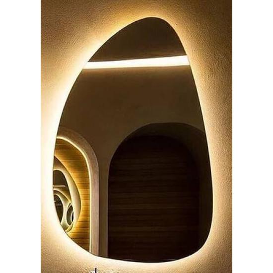 Зеркало Капля с подсветкой Модель 1
