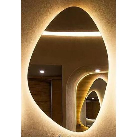 Зеркало Капля с подсветкой Модель 2