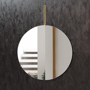 Круглое зеркало на подвесе из латуни Гилберт