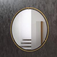 Круглое зеркало в раме из латуни Нимбус