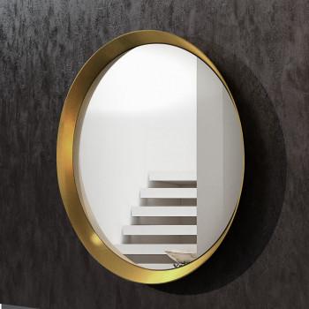Круглое зеркало в латунной раме Орион