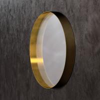 Круглое зеркало в раме из латуни Раунд 2