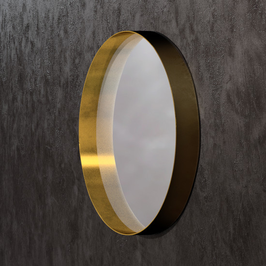 Круглое зеркало в раме из латуни Раунд 2 в интернет-магазине ROSESTAR фото
