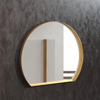 Геометрическое зеркало неправильной формы в раме из латуни Делла