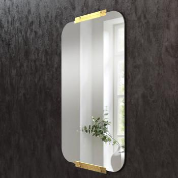 Зеркало с креплением из латуни Кэндлер