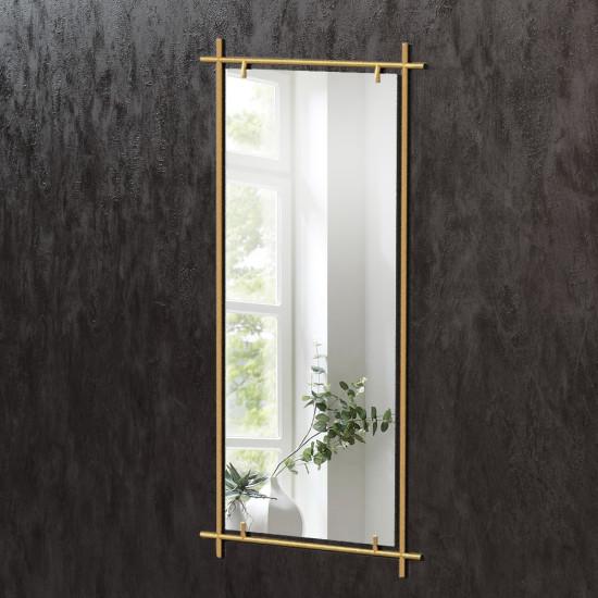 Прямоугольное зеркало в латунной раме Кэри в интернет-магазине ROSESTAR фото