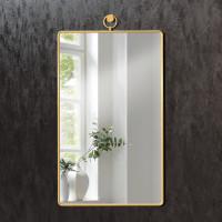 Прямоугольное зеркало в раме из латуни Трион