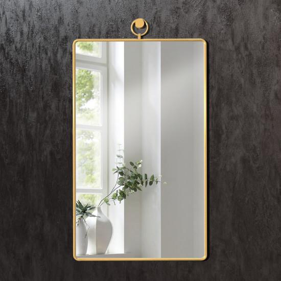 Прямоугольное зеркало в раме из латуни Трион в интернет-магазине ROSESTAR фото