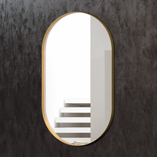 Овальное зеркало в латунной раме Джанет в интернет-магазине ROSESTAR фото