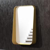 Зеркало с полкой в раме из латуни Лофтис