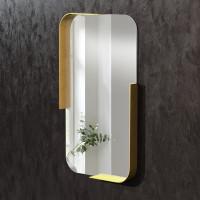 Зеркало в раме из латуни Логан
