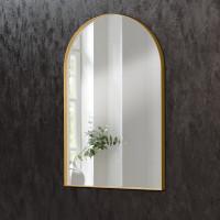 Зеркало в форме арки в раме из латуни Арчед