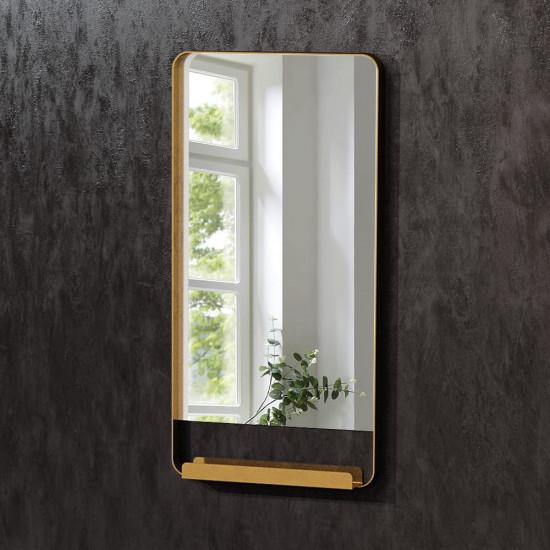 Зеркало в латунной раме с полкой Холден в интернет-магазине ROSESTAR фото
