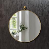 Круглое зеркало в латунной раме Линдэйл