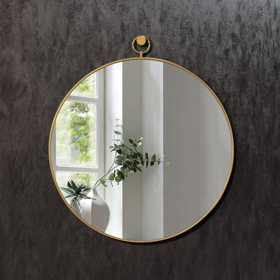 Круглое зеркало в латунной раме Линдэйл в интернет-магазине ROSESTAR фото