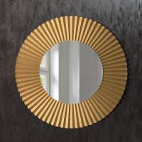 Круглое зеркало в латунной раме Клео