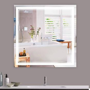 Квадратное зеркало с LED подсветкой Алессия