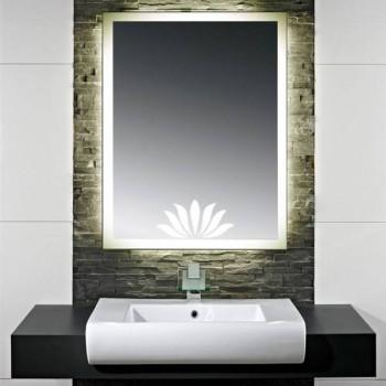 Зеркало с LED подсветкой Лотус