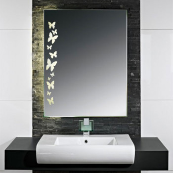 Зеркало с LED подсветкой Бабочки 2