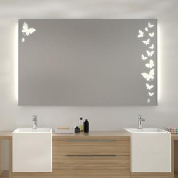 Зеркало с LED подсветкой Бабочки