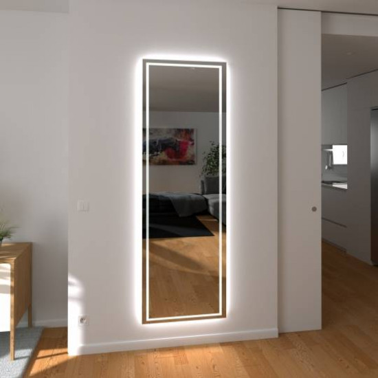 Зеркало с подсветкой по периметру в полный рост Берта в интернет-магазине ROSESTAR фото