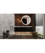 Круглое настенное зеркало со светодиодной LED-подсветкой Доретта