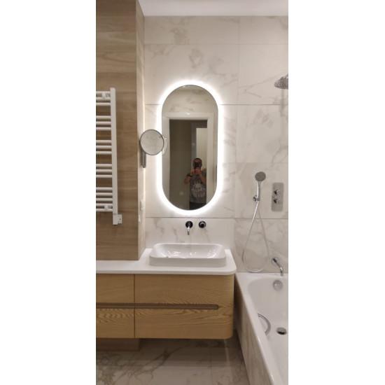 Овальное зеркало в металлической раме с подсветкой Эмерсон в интернет-магазине ROSESTAR фото
