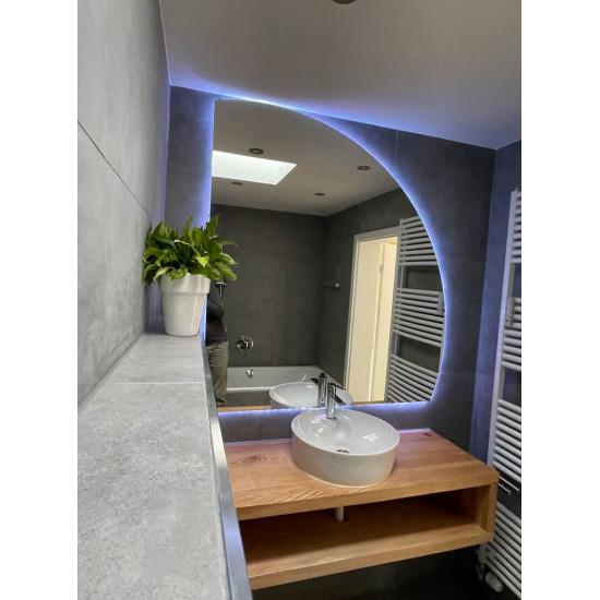 Полукруглое зеркало с подсветкой Хилтон в интернет-магазине ROSESTAR фото