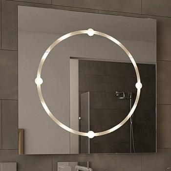 Квадратное зеркало с LED подсветкой Кларди