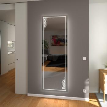 Зеркало с подсветкой в полный рост с рисунком Мессина
