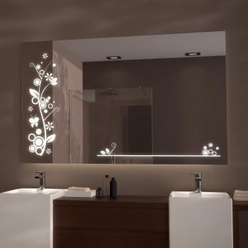Зеркало со светодиодной встроенной и задней  LED-подсветкой Париж
