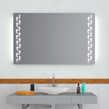 Зеркало с LED подсветкой Следы 2