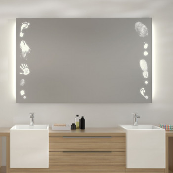 Зеркало с LED подсветкой Следы