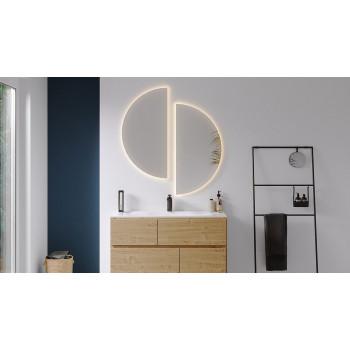 Полукруглое зеркало с подсветкой Сансет 3