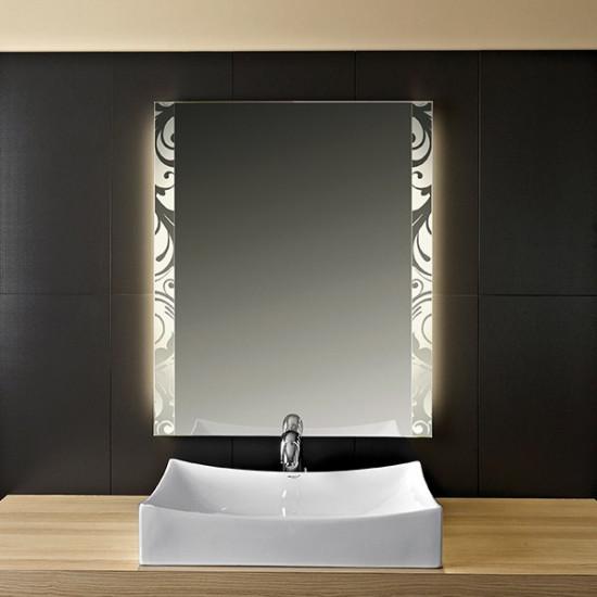 Зеркало с LED подсветкой Узор