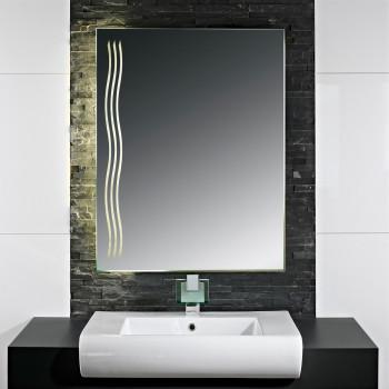 Зеркало с LED подсветкой Вейв