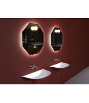 Геометрическое восьмиугольное зеркало с LED подсветкой Октагон