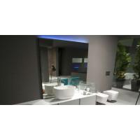 Геометрическое зеркало с LED подсветкой Трапеция