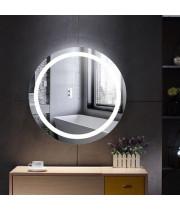 Круглое настенное зеркало со светодиодной LED-подсветкой Лина