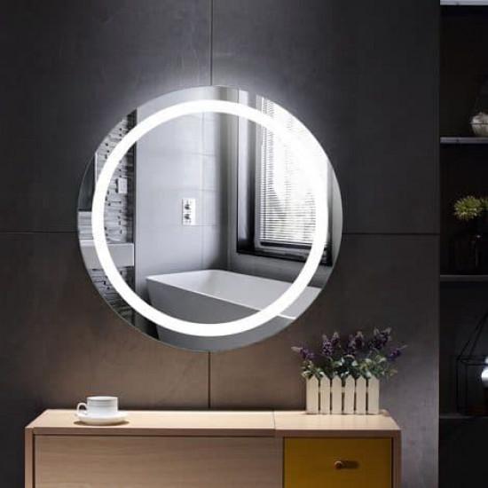 Круглое настенное зеркало со светодиодной LED-подсветкой Лина в интернет-магазине ROSESTAR фото