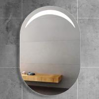 Овальное настенное зеркало со светодиодной LED-подсветкой  Moonlight 2