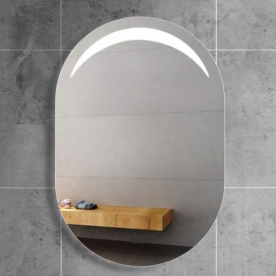 Овальное настенное зеркало со светодиодной LED-подсветкой  Moonlight 2 в интернет-магазине ROSESTAR фото