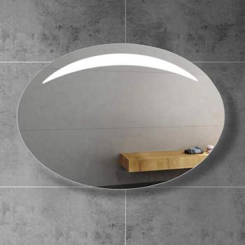 Овальное настенное зеркало со светодиодной LED-подсветкой  Moonlight