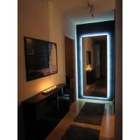 Зеркало большое напольное и настенное в полный рост с LED подсветкой Эллис