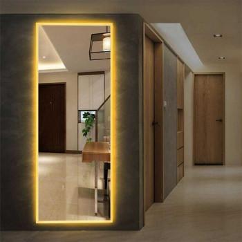 Зеркало большое напольное и настенное в полный рост с LED подсветкой Jessica
