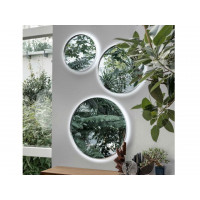 Круглые настенные зеркала со светодиодной LED-подсветкой Аливар (3 штуки)