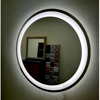 Круглое настенное зеркало со светодиодной LED-подсветкой Marston