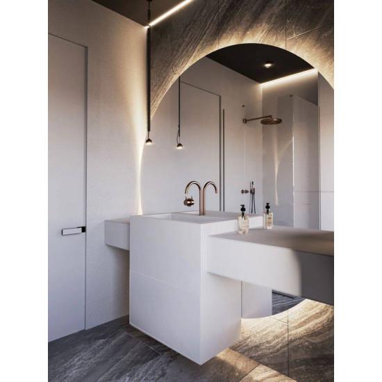 Большое круглое зеркало с подсветкой Флавин в интернет-магазине ROSESTAR фото