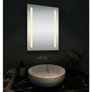 Прямоугольное зеркало с LED подсветкой Стокгольм Тёплый свет