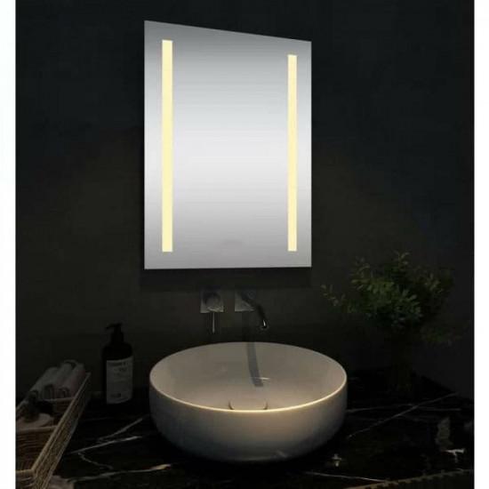Прямоугольное зеркало с LED подсветкой Стокгольм Тёплый свет в интернет-магазине ROSESTAR фото